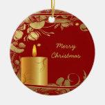 Ornamento de oro de las flores y del navidad de la ornamento para arbol de navidad