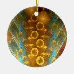 Ornamento de oro de los girasoles adorno para reyes