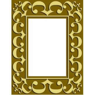 Ornamento de oro del marco esculturas fotograficas