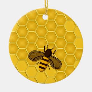 Ornamento de oro del panal con las abejas adorno para reyes