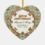 Ornamento de oro del remolino del francés para el  ornamento de reyes magos