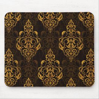 Ornamento de oro en Mousepad de madera Alfombrillas De Ratón