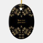 Ornamento de oro negro del personalizado de la fro ornato