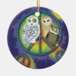 Ornamento de Owl~ de la paz Ornamentos De Reyes Magos