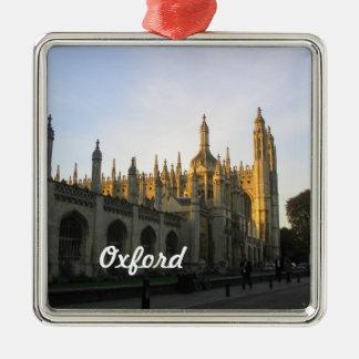 Ornamento de Oxford Adorno Navideño Cuadrado De Metal