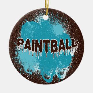 Ornamento de Paintball Adornos De Navidad