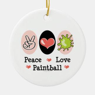 Ornamento de Paintball del amor de la paz Ornamento Para Reyes Magos