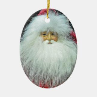 Ornamento de Papá Noel Adorno Navideño Ovalado De Cerámica