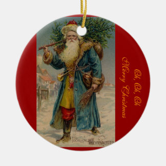Ornamento de Papá Noel del navidad del Victorian Adorno Navideño Redondo De Cerámica