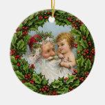 Ornamento de Papá Noel del vintage Ornamentos De Reyes