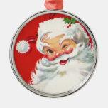 Ornamento de Papá Noel del vintage Adorno De Navidad
