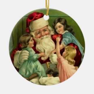 Ornamento de Papá Noel del vintage Ornaments Para Arbol De Navidad