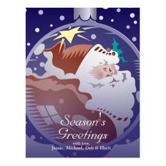 Ornamento de Papá Noel Tarjeta Postal
