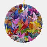 Ornamento de papel de 1.000 grúas de Origami Adorno De Navidad
