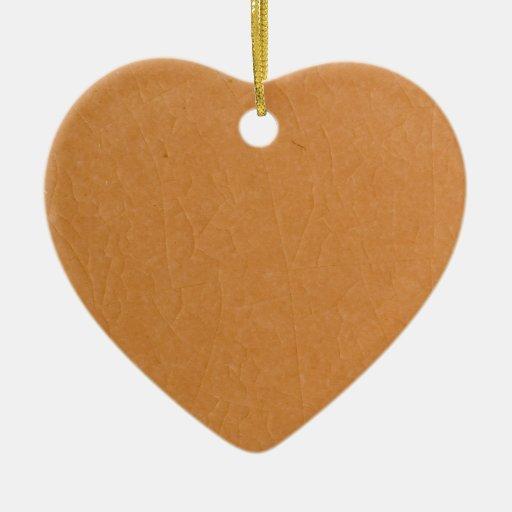 Ornamento de piedra de las grietas del albaricoque adorno de cerámica en forma de corazón