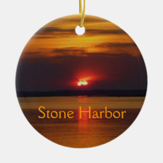 Ornamento de piedra del puerto adorno redondo de cerámica