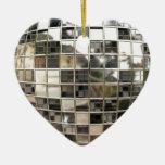 Ornamento de plata chispeante del disco adornos de navidad