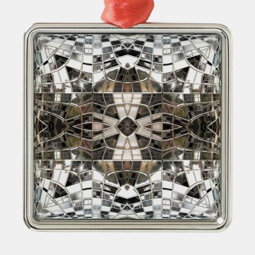 Ornamento de plata chispeante del mosaico ornamento para reyes magos