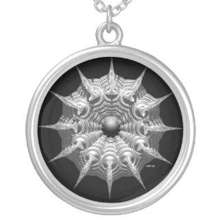 Ornamento de plata colgante redondo
