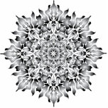 Ornamento de plata de la llama adorno fotoescultura