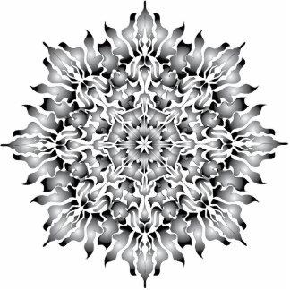 Ornamento de plata de la llama esculturas fotograficas
