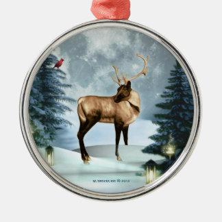 Ornamento de plata de Squar de la escena del Ornamento De Navidad