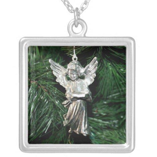 Ornamento de plata del ángel colgante personalizado