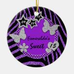 Ornamento de plata negro púrpura de la foto del du ornamentos para reyes magos
