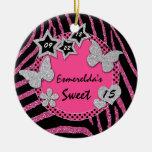 Ornamento de plata negro rosado de la foto del dul ornamento para reyes magos