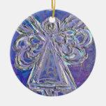 Ornamento de plata púrpura del ángel adorno de reyes