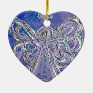Ornamento de plata púrpura del ángel ornamentos de reyes