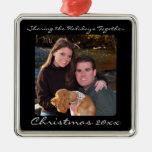 Ornamento de plata w/Message del navidad de la Ornamento Para Reyes Magos