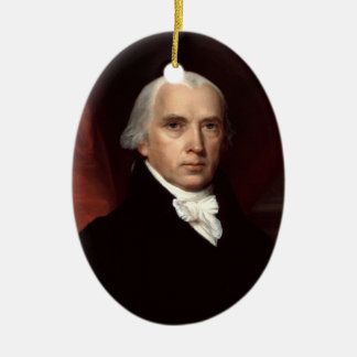 Ornamento de presidente James Madison Ornamentos De Reyes