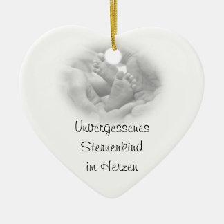 Ornamento de propensión adorno navideño de cerámica en forma de corazón