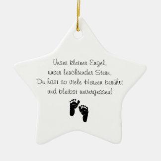 Ornamento de propensión de niños de estrella adorno navideño de cerámica en forma de estrella