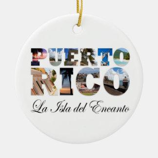 Ornamento de Puerto Rico La Isla Del Encanto Monta Adorno De Navidad