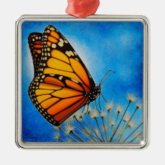 Ornamento de reclinación del monarca ornamento de navidad