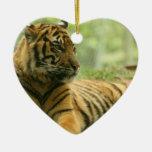 Ornamento de reclinación del tigre adorno