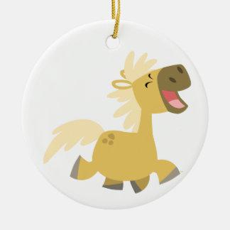 Ornamento de risa lindo del potro del dibujo anima ornamento para arbol de navidad
