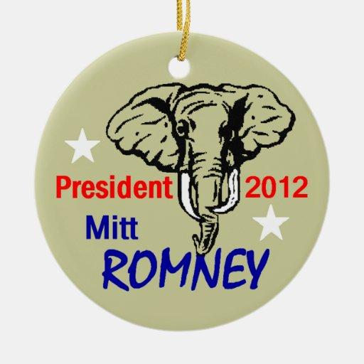 Ornamento de Romney 2012 Ornato
