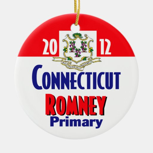 Ornamento de Romney CONNECTICUT Adorno Redondo De Cerámica
