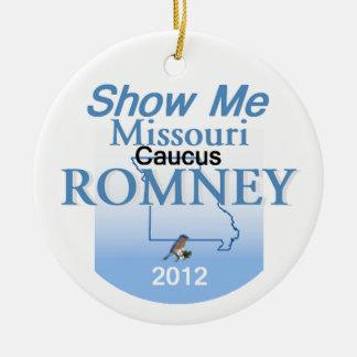 Ornamento de Romney MISSOURI Adorno Navideño Redondo De Cerámica