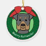 Ornamento de Rottweiler Ornamento Para Arbol De Navidad