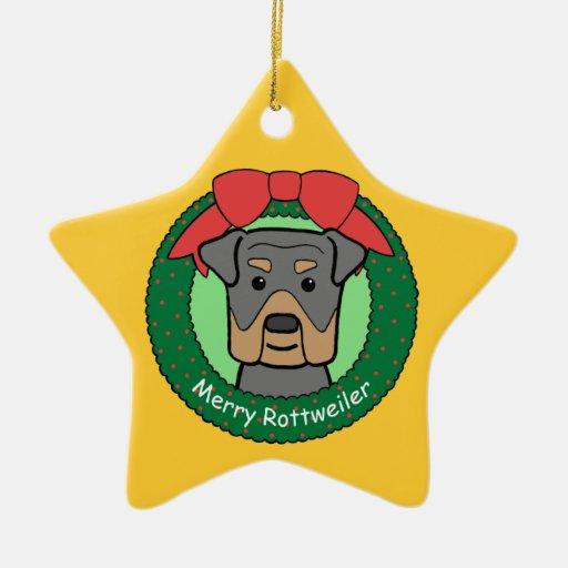 Ornamento de Rottweiler Ornamento Para Reyes Magos