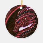 Ornamento de rubíes del dragón adorno de reyes