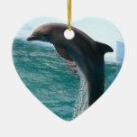 Ornamento de salto del delfín ornamentos de navidad