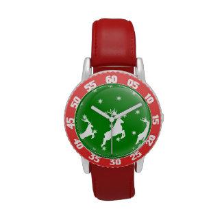 Ornamento de salto del reno relojes de pulsera