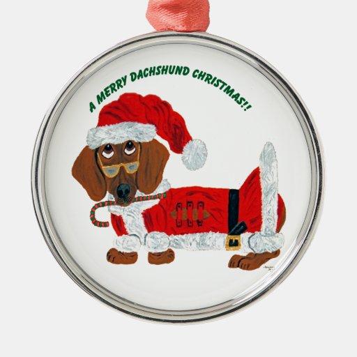 Ornamento de Santa del bastón de caramelo del Dach Ornamente De Reyes