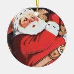 Ornamento de Santa del vintage Ornamento De Reyes Magos