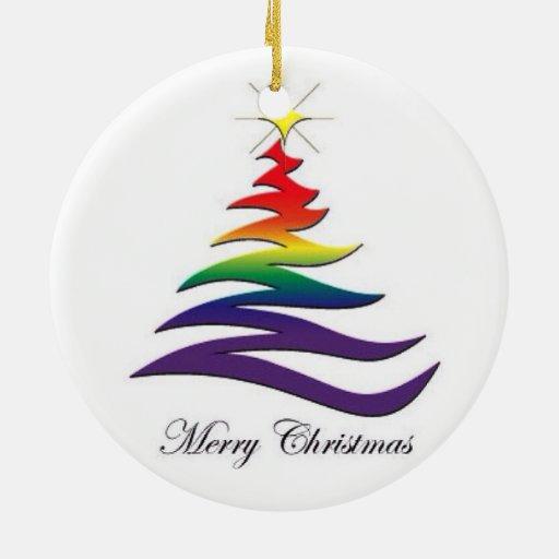 Ornamento de Santa y del gay de Twink Adorno Navideño Redondo De Cerámica